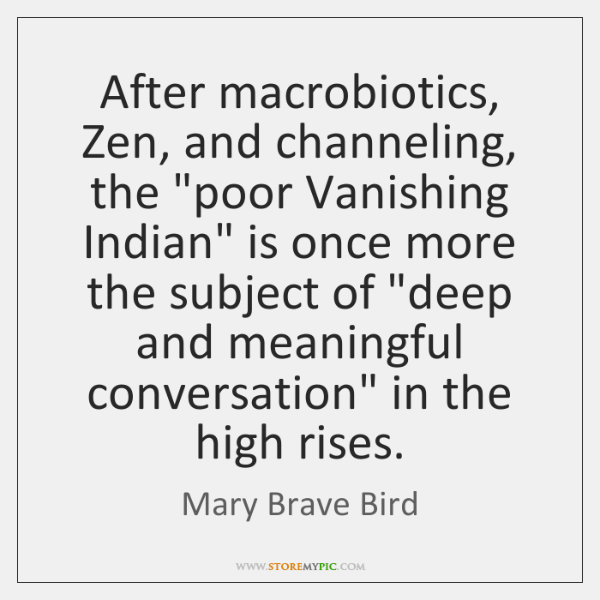 After macrobiotics, Zen, and channeling, the