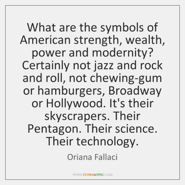 What Are The Symbols Of American Strength Wealth Power And