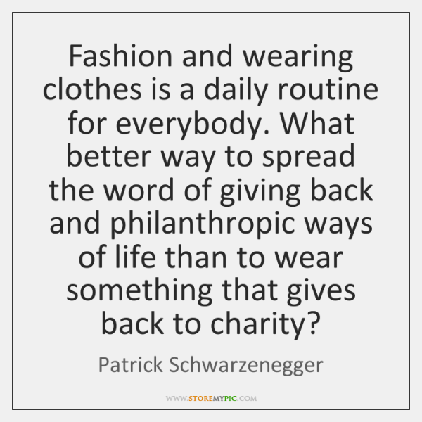 Fashion and wearing clothes is a daily routine for everybody. What better ...