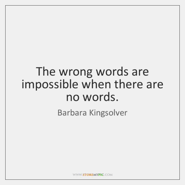 The Wrong Words Are Impossible When There Are No Words Storemypic