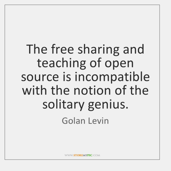The free sharing and teaching of open source is incompatible with the ...