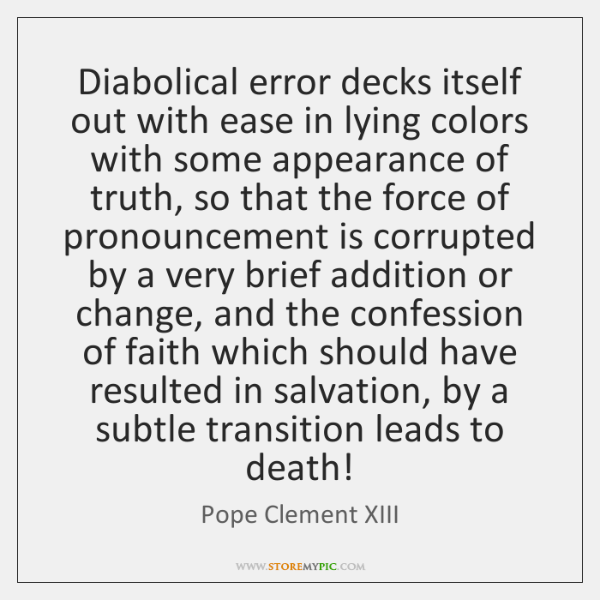 Diabolical error decks itself out with ease in lying colors with some ...