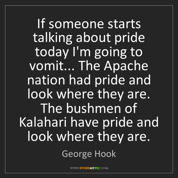 George Hook: If someone starts talking about pride today I'm going...