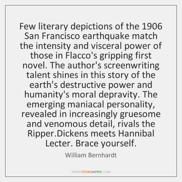 Few literary depictions of the 1906 San Francisco earthquake match the intensity and ...