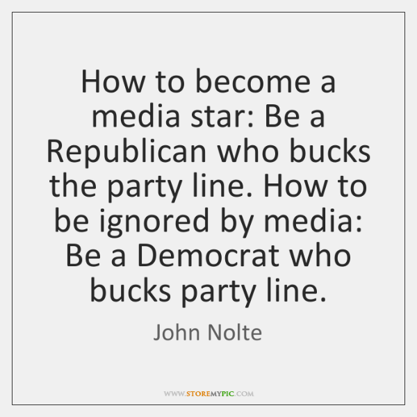 How to become a media star: Be a Republican who bucks the ...