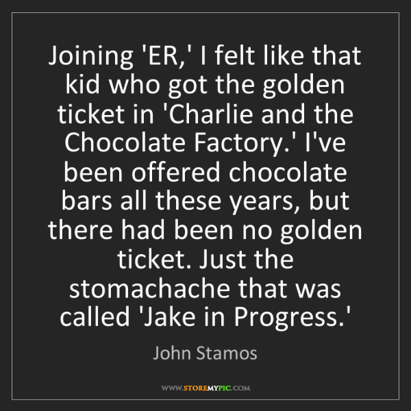 John Stamos: Joining 'ER,' I felt like that kid who got the golden...