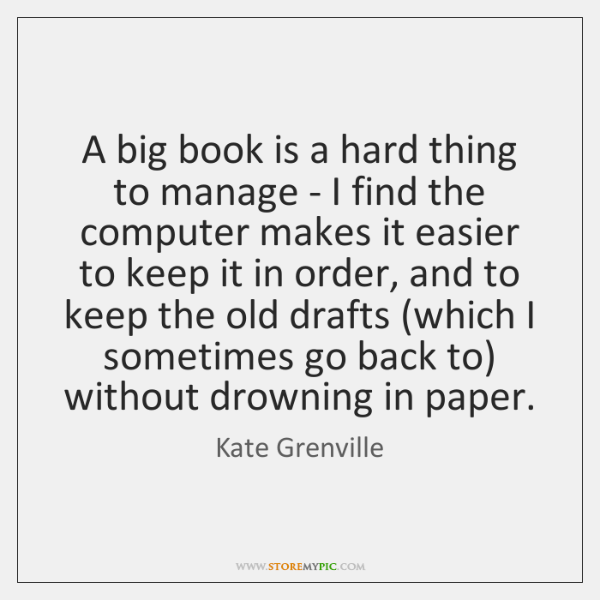 A big book is a hard thing to manage - I find ...