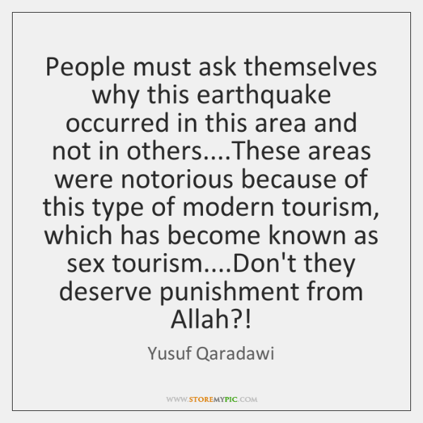 People must ask themselves why this earthquake occurred in this area and ...