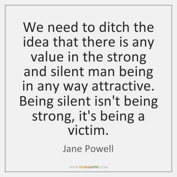 We need to ditch the idea that there is any value in ...