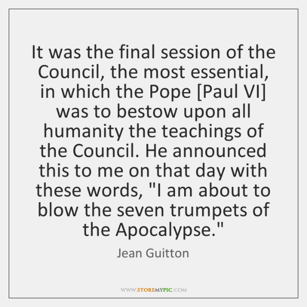 It was the final session of the Council, the most essential, in ...