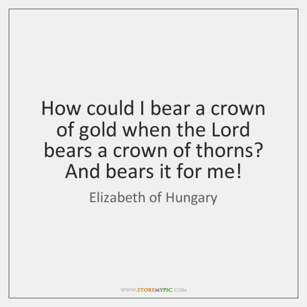 How could I bear a crown of gold when the Lord bears ...