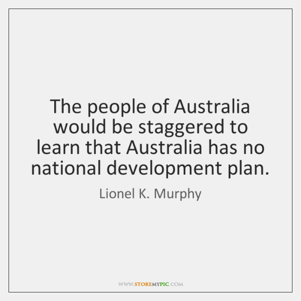 The people of Australia would be staggered to learn that Australia has ...