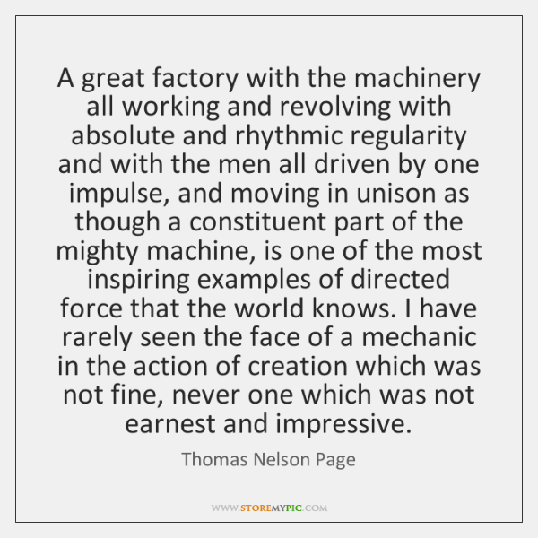 A great factory with the machinery all working and revolving with absolute ...
