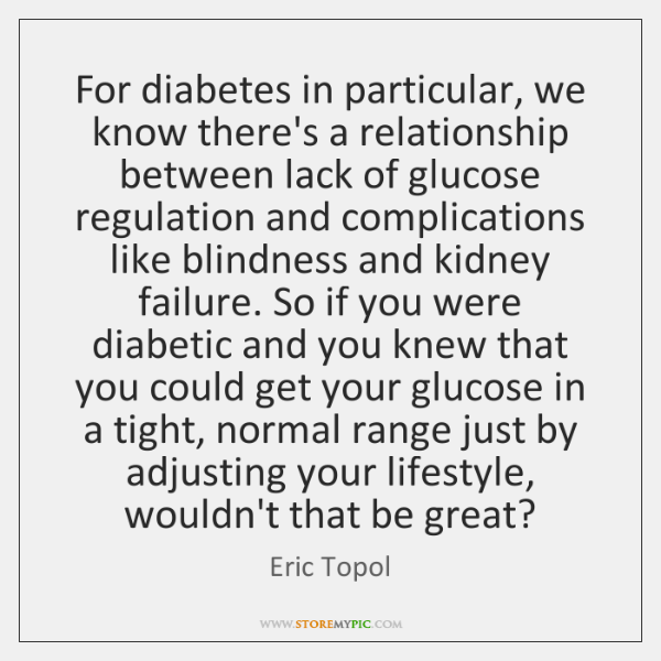 For diabetes in particular, we know there's a relationship between lack of ...