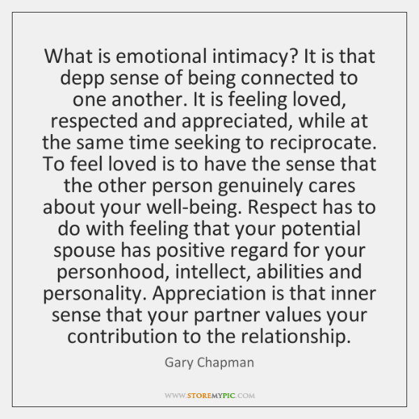 What is emotional intimacy