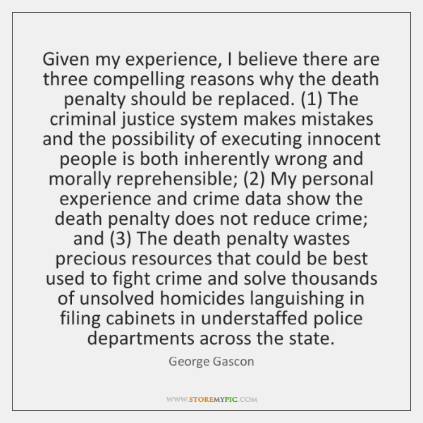 Given my experience, I believe there are three compelling reasons why the ...