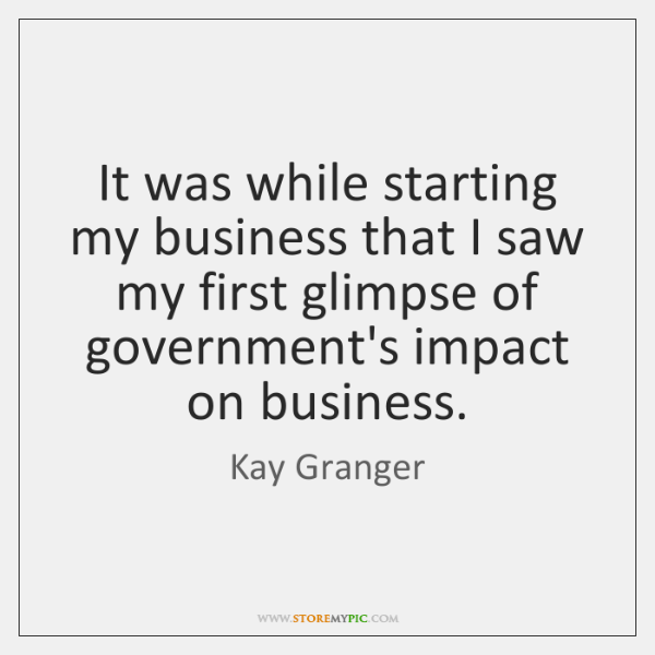 It was while starting my business that I saw my first glimpse ...