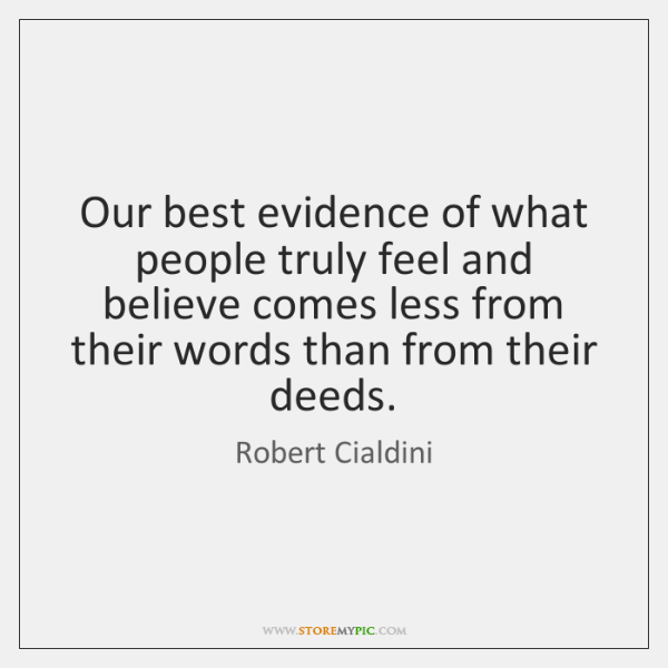 Our best evidence of what people truly feel and believe comes less ...