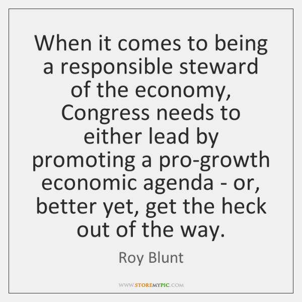 When it comes to being a responsible steward of the economy, Congress ...