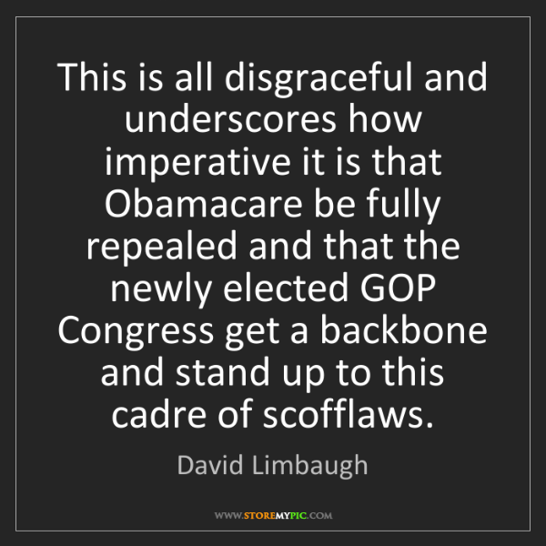 David Limbaugh: This is all disgraceful and underscores how imperative...