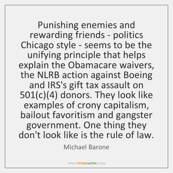 Punishing enemies and rewarding friends - politics Chicago style - seems to ...
