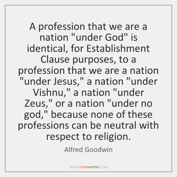 A profession that we are a nation