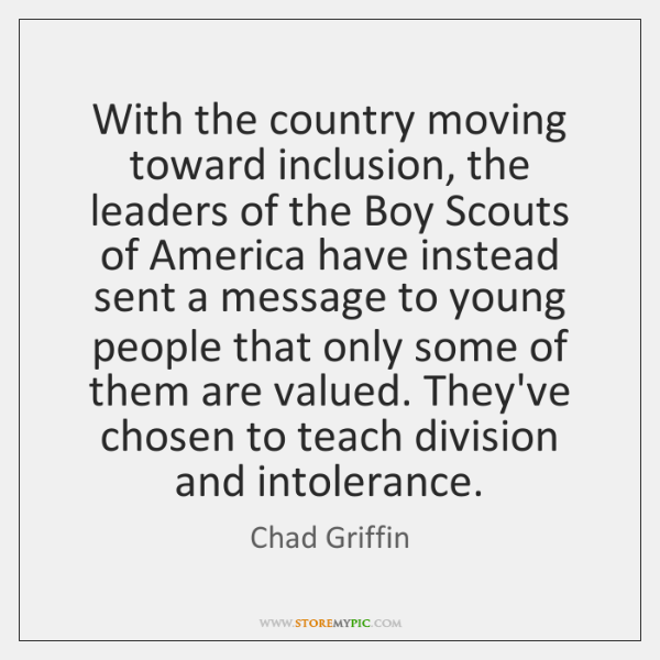 With the country moving toward inclusion, the leaders of the Boy Scouts ...