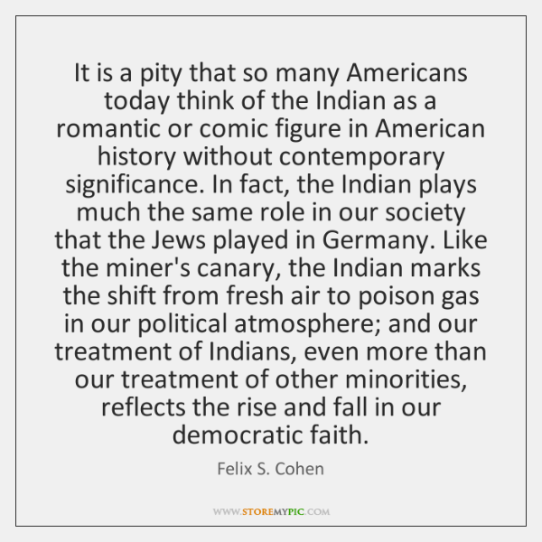 It is a pity that so many Americans today think of the ...