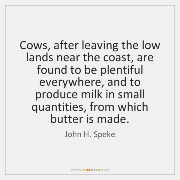 Cows, after leaving the low lands near the coast, are found to ...