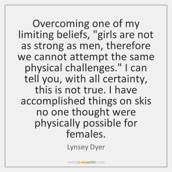 Overcoming one of my limiting beliefs,