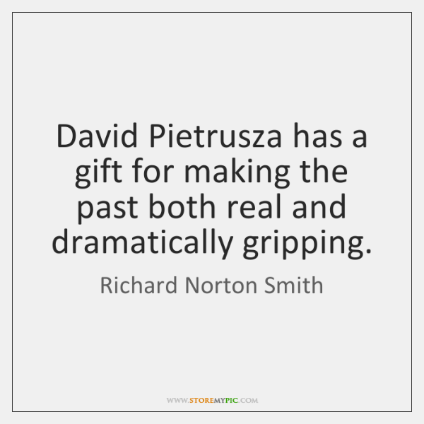 David Pietrusza has a gift for making the past both real and   ...