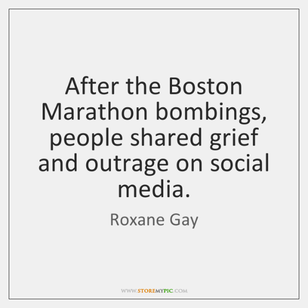 After the Boston Marathon bombings, people shared grief and outrage on social ...