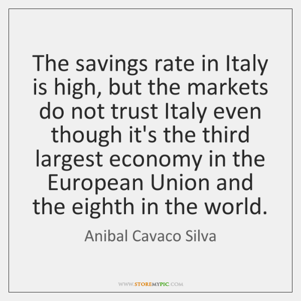 The savings rate in Italy is high, but the markets do not ...