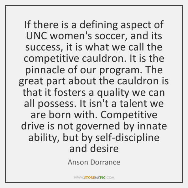 If there is a defining aspect of UNC women's soccer, and its ...