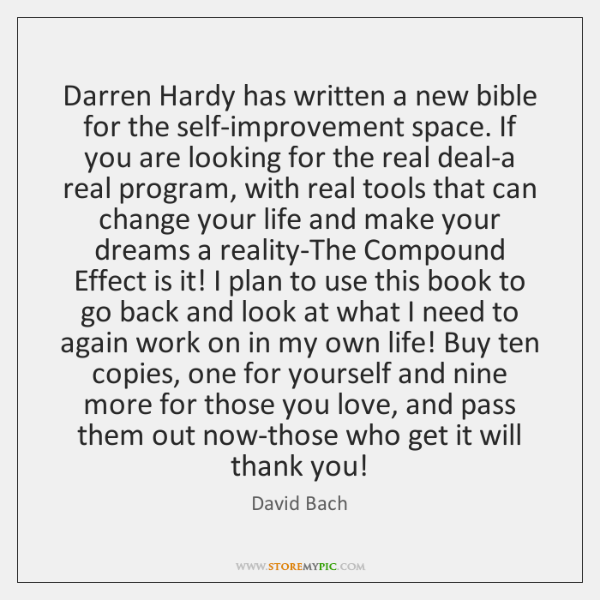 Darren Hardy has written a new bible for the self-improvement space. If ...
