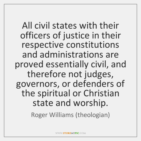 All civil states with their officers of justice in their respective constitutions ...