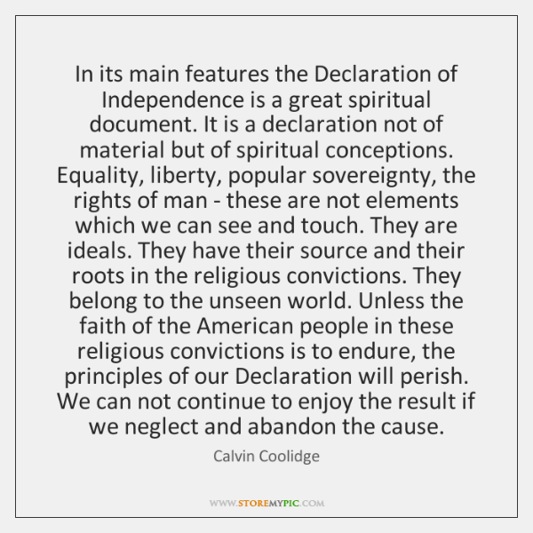 ideals of the declaration of independence