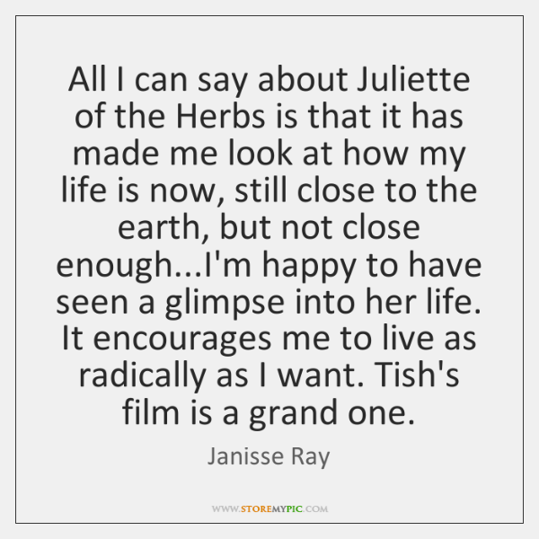 All I can say about Juliette of the Herbs is that it ...