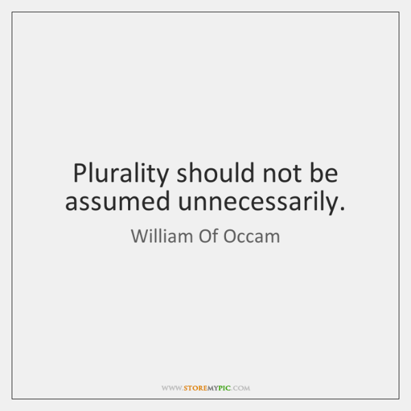 Plurality should not be assumed unnecessarily.