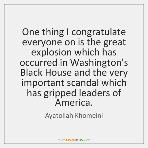 One thing I congratulate everyone on is the great explosion which has ...