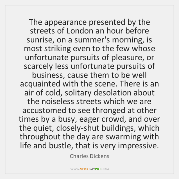 The appearance presented by the streets of London an hour before sunrise, ...