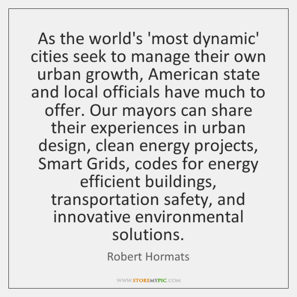 As the world's 'most dynamic' cities seek to manage their own urban ...