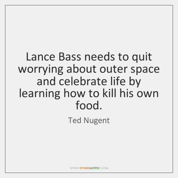 Lance Bass needs to quit worrying about outer space and celebrate life ...