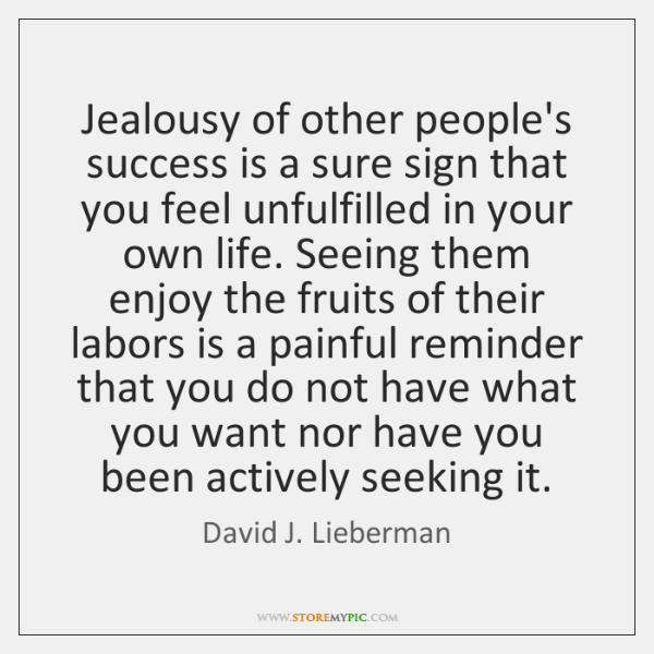 how to not be jealous of other people