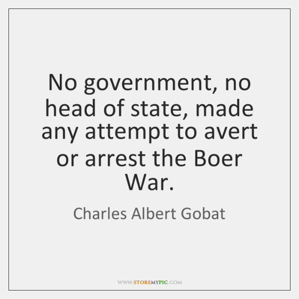 No government, no head of state, made any attempt to avert or ...