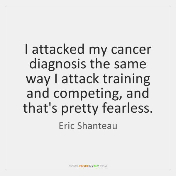 I attacked my cancer diagnosis the same way I attack training and ...