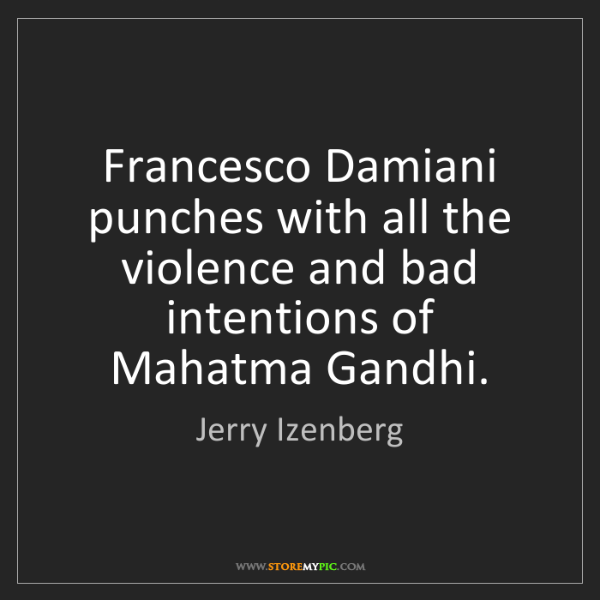 Jerry Izenberg: Francesco Damiani punches with all the violence and bad...