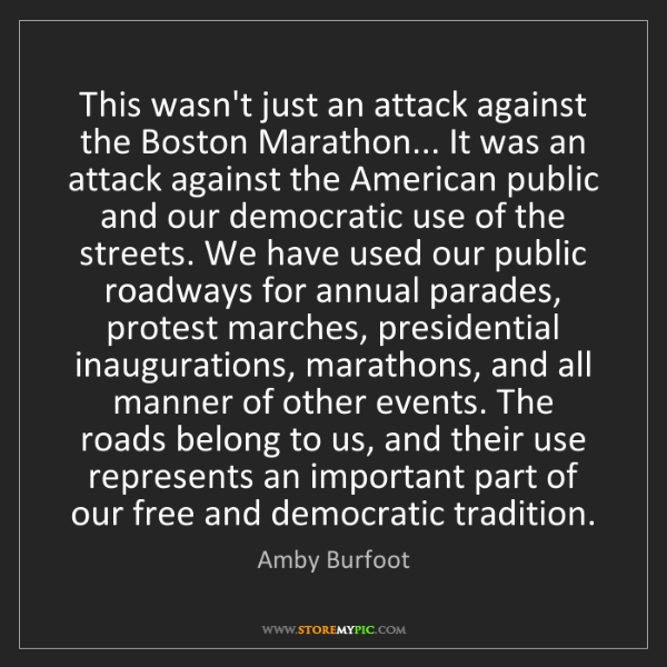 Amby Burfoot: This wasn't just an attack against the Boston Marathon......