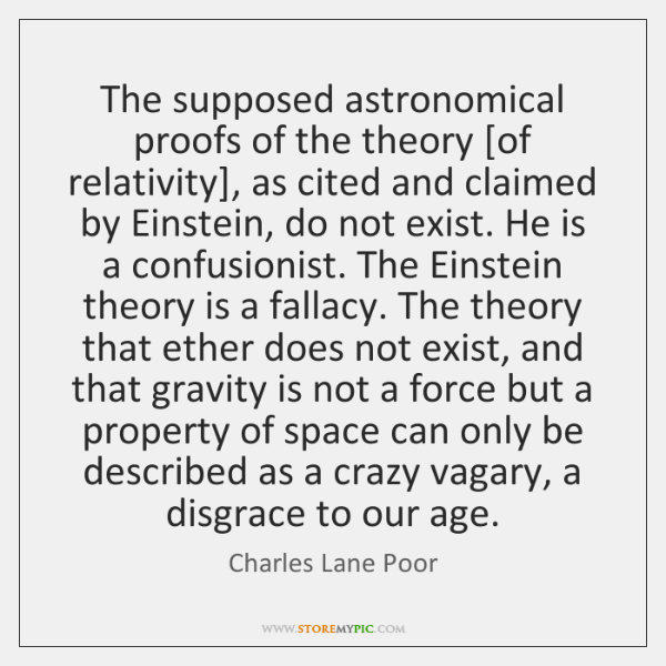 The supposed astronomical proofs of the theory [of relativity], as cited and ...
