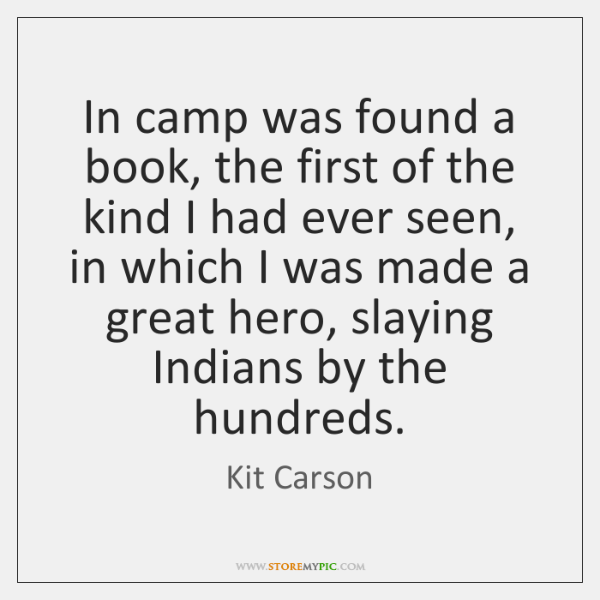 In camp was found a book, the first of the kind I ...